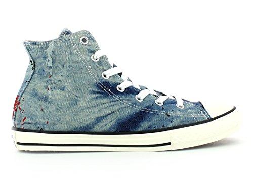 CONVERSE - Baskets bleues à lacets, en jeans, logo latéral et à l'arrière, lacets blancs, enfant (garçon ou fille) adulte (homme ou femme)