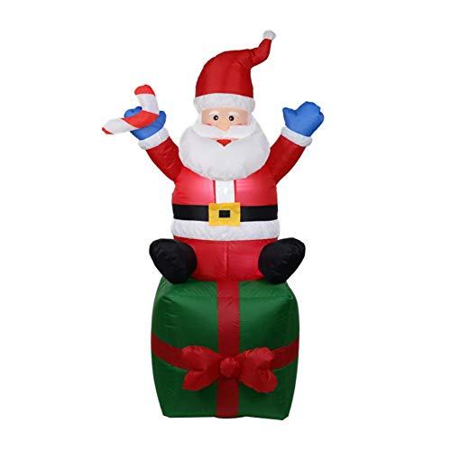 PZY Aufblasbares Modell des Weihnachten Selbstaufblasend, Nette Aufblasbare Weihnachtsdekorationen Und Gebläse-Weihnachtstagesdekoration, Passend Für Hof, Garten-Dekoration (Aufblasbar Weihnachten Hof Dekorationen)