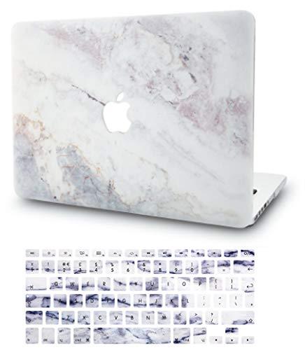 KECC MacBook Pro 13 Hülle (2020/2019/2018/2017/2016, Touch Bar) Schutzhülle Case w/EU Tastaturschutz MacBook Pro 13.3 {A1989/A1706/A1708} (Marmor Weiß 2)