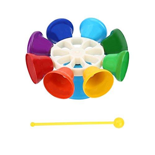 Handglocken Set, 8 Noten Diatonische Metall Glocken Musial Glocken für Kinder