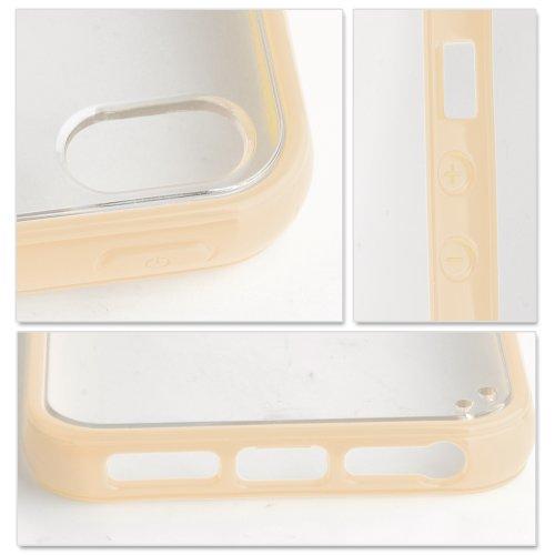 iPhone 5 / 5S Ultra-Slim Hülle schwarz milchig-gelb