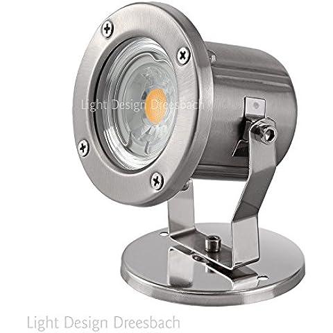 Set di 10in acciaio inox stagno lampada giardino lampada esterno lampada da esterni IP683watt LED COB Bianco Caldo GU10 moderno Bianco