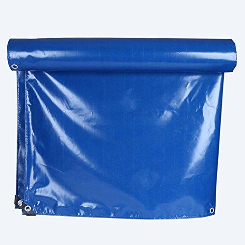 WOAINI Blaue Monoabdeckung PVC-Plane Verschiedene Größen - Verstärkter Saum + Ösen (größe : 6x6m)