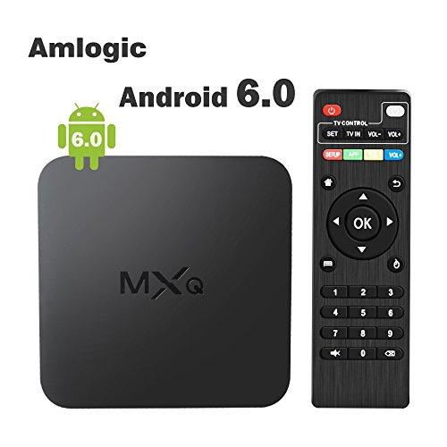 Globmall Android 6.0 TV Box 64 Bits Marshmallow OS 2017 Model MXQ 4K Smart TV Box Supporto Vero 4K (60Hz) Full HD /H.265 /WiFi 2.4GHz