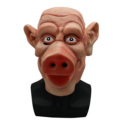 BESTOYARD Halloween Scary Schwein Kopf Maske Cosplay Full Face Kostüm Zubehör