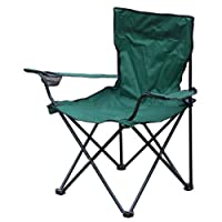 "Milestone 1-Seater Folding Fishing/ Camping Chair with Cup Holder and Carry Bag ""Color May Vary"" 10"
