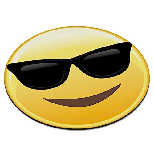 Emoji Sonnenbrillen Cool Smiley Zirkular PC Computer Mauspad