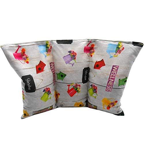"""Cuscino termico noccioli ciliegia """"Wellness"""" - 26 x 16 cm (M / L) - pieno di noccioli di ciliegia 330gr - effetto freddo/caldo"""