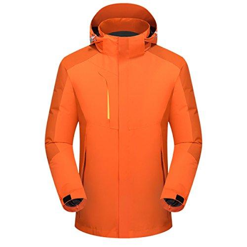 MeiZiWang Zweiteilige Herbst Und Winter Im Freien Männer Jacken,Orange-M