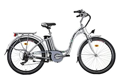 Cyclamatic GTE Step Through E-Bike - Silver