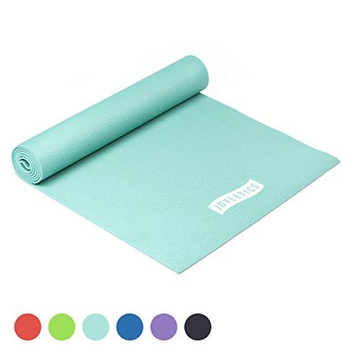 Joyletics Yogamatte -50- Rutschfeste und Abriebfeste Matte für Yoga, Pilates, Bodentraining oder Gymnastik - handlich und leicht - Maße 183 x 61 x 0,5 cm in türkis