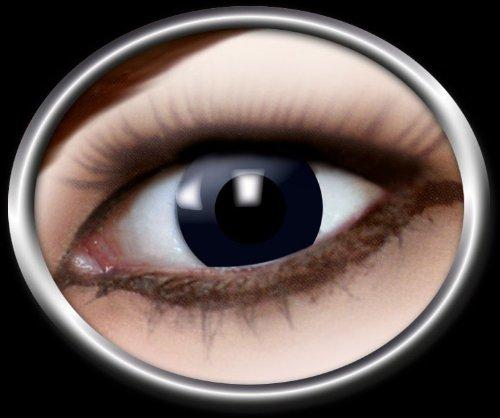 12-Monats-Kontaktlinsen weich schwarz getönt mit Sehstärke, Dioptrien:-2.5