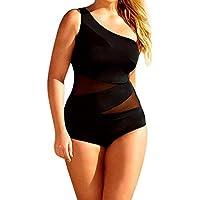 Cinnamou Bañadores Bikinis con Hoja Impresa,Bikini Push Up/Traje De Baño Mujer/Ropa De Baño Bohemia/Swimwear de Negro/Bodysuits Baño De Natación Mujer Trajes de una Pieza