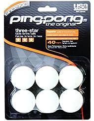 Ping Pong de tres estrellas (6 unidades) pelotas - blanco