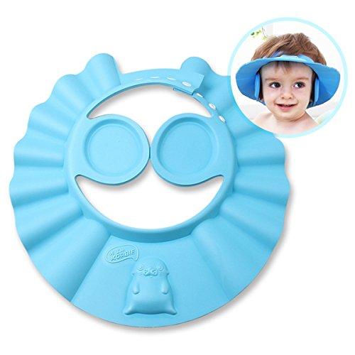 iRegro Weiche Dusch-/Badekappe für Babys/Kinder, schützt Gesicht und Augen vor Wasser und Shampoo -
