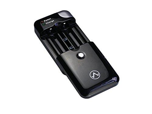 Avalva 3543 Chargeur de Batterie Universel avec Chargeur Allume-Cigare/Prise USB 230 V Noir