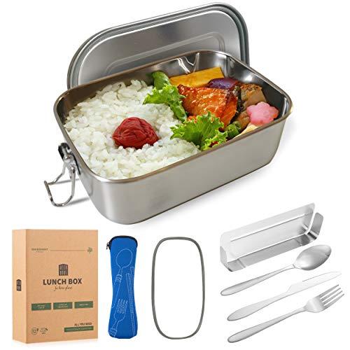 Lunchbox Besteck Trennwände Lunchbox Bento BoxBrotdose mit Edelstahl Besteck