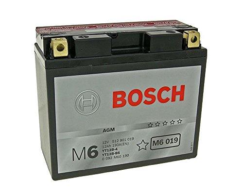 Bosch YT12B-BS - Batteria da 12 Volt per Yamaha FZS 600 N Fazer, FZS 600 S N Fazer, TDM 850 4TX