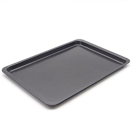 Backblech, Hipsteen 14.5inch Rectangle Bäckerei Kohlenstoffstahl Antihaft Geschirr Baking Pan Backblech Ofenblech Drip Pfannen Backbleche Plätzchen Pizza Tray Cake Pan Pflaumenkuchen - Black