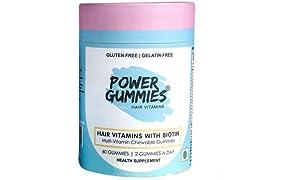 Power Gummies Hair Vitamin with Biotin (Blue)-60
