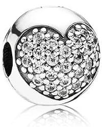 Pandora Damen-Charm 925 Sterling Silber Zirkonia weiß 791053CZ