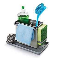 Metaltex Tidy-Tex Kitchen Sink Organiser, Grey, 24 x 13 x 14 cm