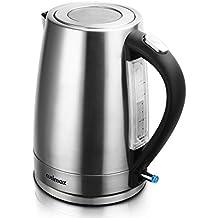 Cusimax 1.7 L Elektrischer Wasserkocher, BPA-frei Edelstahl Wasserkocher mit Strix-Controller, Auto-Abschaltung und Schutz vor Austrocknen, 2200W, CMWK-180S