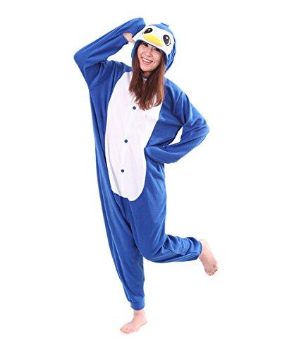 Pyjama Pingouin Bleu Combinaisons Animaux Femme Homme Grenouillère Kigurumi Adulte Pyjamas Costume Onesie M