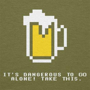 Texlab–Dangerous Beer–sacchetto di stoffa Oliva