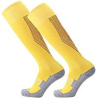 Nikgic - Calcetines de Fútbol - Poliéster - Antideslizante Espesar Anti-Fricción Corriendo Calcetines Largos
