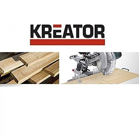 Kreator HSS Lame de scie circulaire Ø 185x 30x 2,2mm 60dents pour bois + 3bagues de réduction