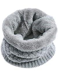 Imixcity Femme Homme Hiver Chaud Cache-col Tricot Crochet 2 Cercle Écharpe  Tube Foulard 30 afa7314e850