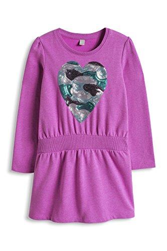 ESPRIT Mädchen Kleid 095EE7E002, Gr. 116 (Herstellergröße: 116/122), Violett (VIOLET 505)