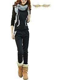 BYD Mujeres 2pcs Conjuntos Chándales Deportivos Casual Collar de Pilas Hoodie Sweatshirt Sudadera con Capucha + Pantalones