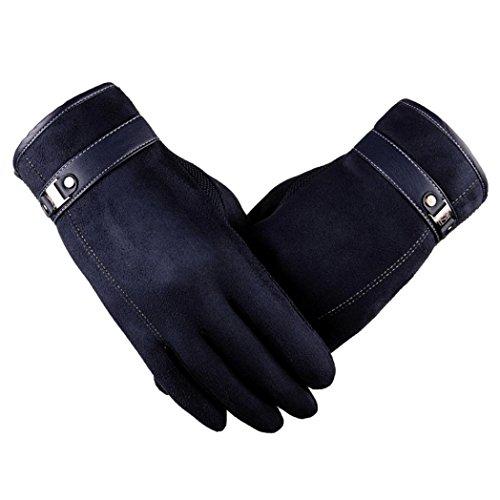 Handschuhe Transer® Herren Rutschfeste warme Handschuhe Motorrad Ski Schnee Snowboard Handschuhe für Reiten/Fahren (Handschuhe Leder Motorrad Fingerlose Gel)