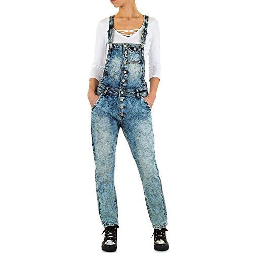 Damen Jeans Used Look Latz Skinny Blau M