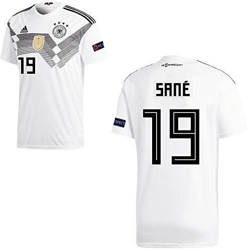 adidas Fußball DFB Deutschland Home Trikot WM 2018 Herren Sané 19 mit Respekt Logo Gr M