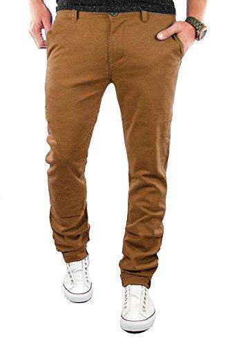 Merish Chino Slim Fit Hose Jeans 6 Farben 68 Braun