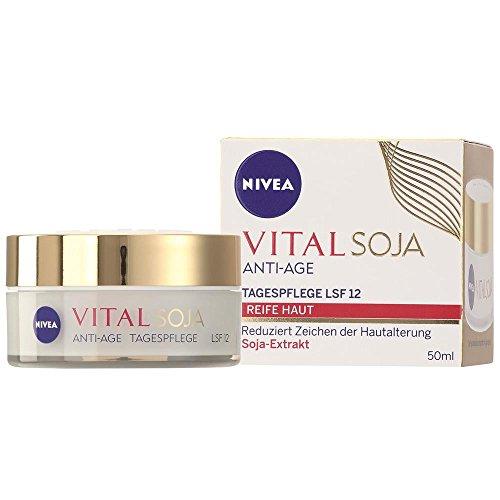 NIVEA FACE Vital SOJA Anti Age Tagespflege, LSF 12 Reife Haut (50ml)