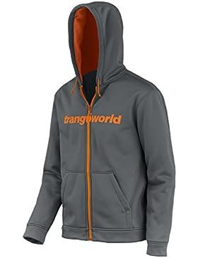 Trangoworld Ripon Chaqueta, Hombre, Gris Medio / Naranja, M