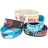 Silicone Wristbands For Men|Kids|Multicolor Pack Of 5|Stylish Wrist Bands With 3D Printing Various Designs