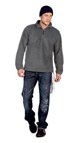 Fleece Sweater 'Highlander+' mit 1/4 Reißverschluss Charcoal