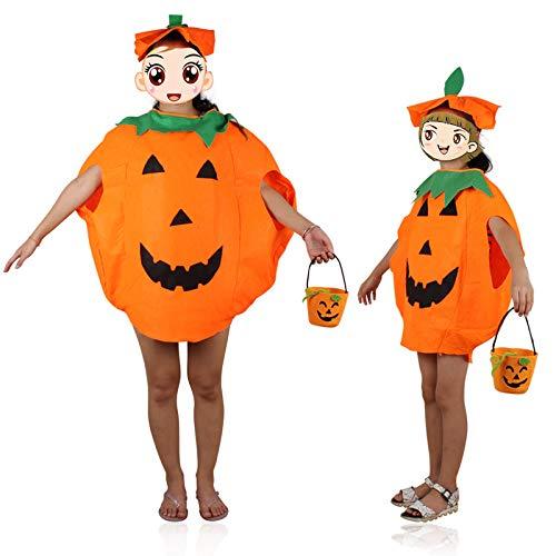RENS Halloween Kürbis Kostüm Eltern-Kind-Anzug - Kürbis Kleidung Und Hut - Cosplay Party Kleidung Anzug Für Die Familienschule - Kleinkind-kürbis-pie