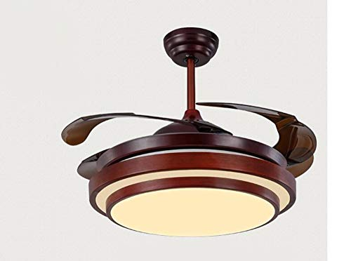 Preisvergleich Produktbild Zhang Ying ZY * Deckenventilator mit Lampe Schlafzimmer Stealth Einfache Kronleuchter mit Lüfter Curry Farbe 36 Zoll Fernbedienung-G Durchmesser 92 cm