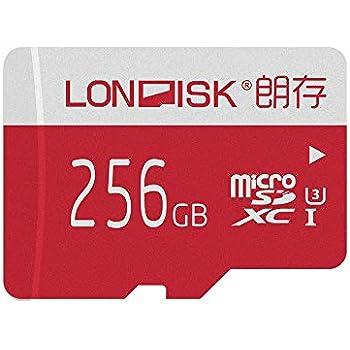 LONDISK Tarjeta micro SD de 256GB Class10 U3 Tarjeta de memoria 4K para la versión GoPro Hero / Tarjeta microSD de video 4K SDXC (U3 256GB)