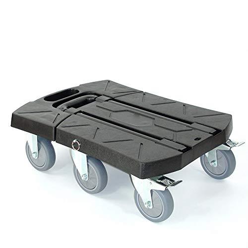 Qianggao carrello di carrelli a ruote 6 resistenti del carrello a mano pieghevole, carrello pieghevole del carrello a base piatta pieghevole del carrello portatile, 3 colori facoltativi,black