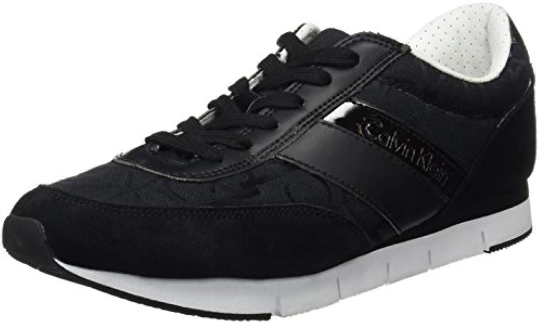 Calvin Klein Jeans Juan CK Logo Jacquard/Suede, Alpargatas para Hombre -