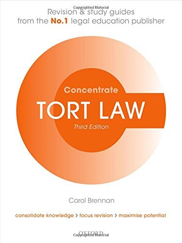 Tort Law Concentrate: Law Revision and Study Guide by Brennan, Carol (July 2, 2015) Paperback