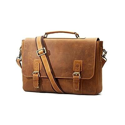 S-ZONE Sac à main en cuir véritable nouveau vintage sac épaule bandoulière pour voyage loisir travail