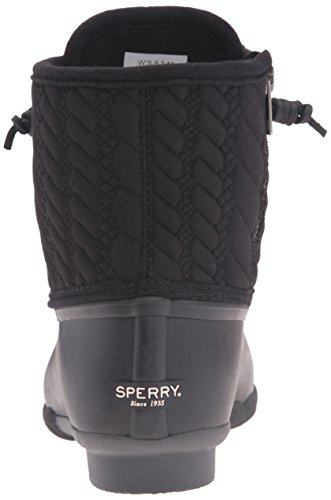 Sperry Top-Sider Saltwater Rope, Bottes de Pluie Femme Noir (Black)